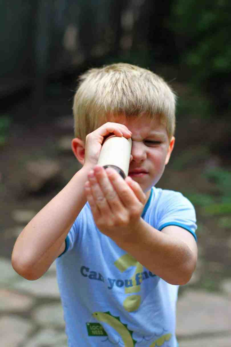 How to Make a DIY Nature Kaleidoscope with kids