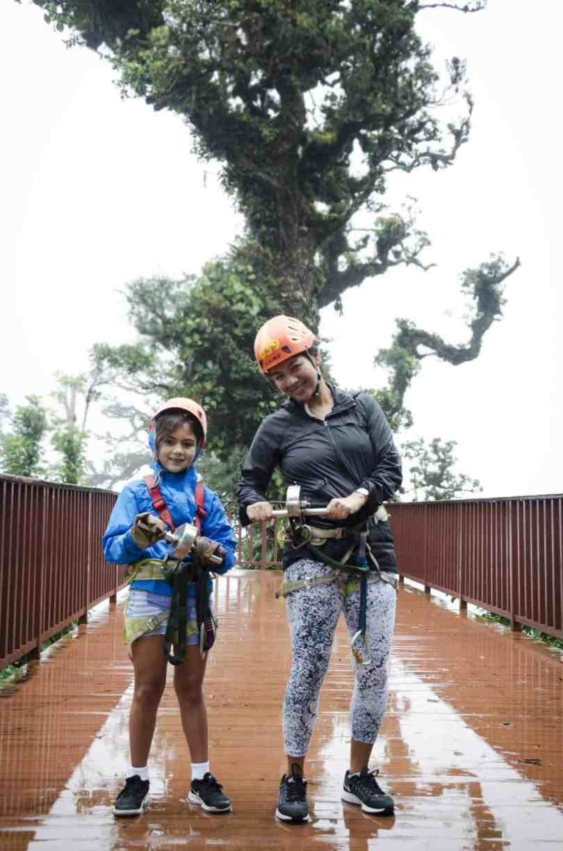 ziplining with kids in costa rica