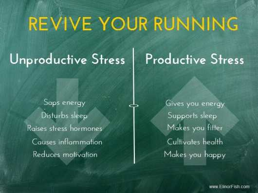 influence of stress on running