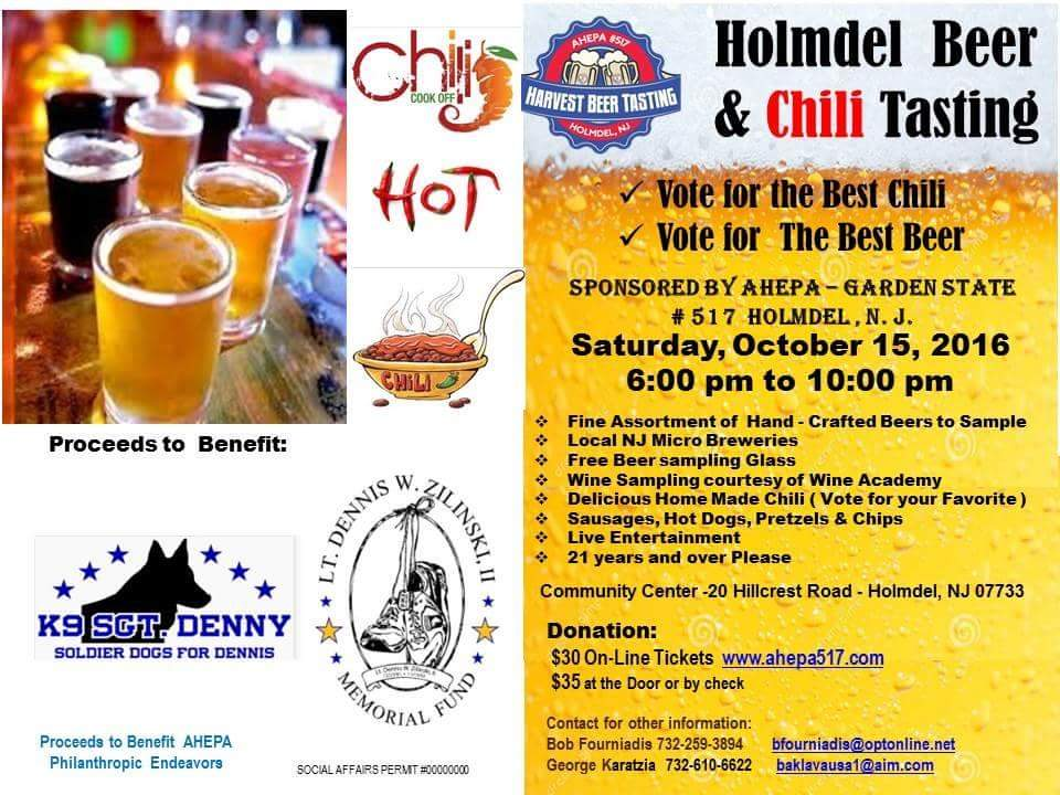 HOLMDEL BEER AND CHILI TASTING