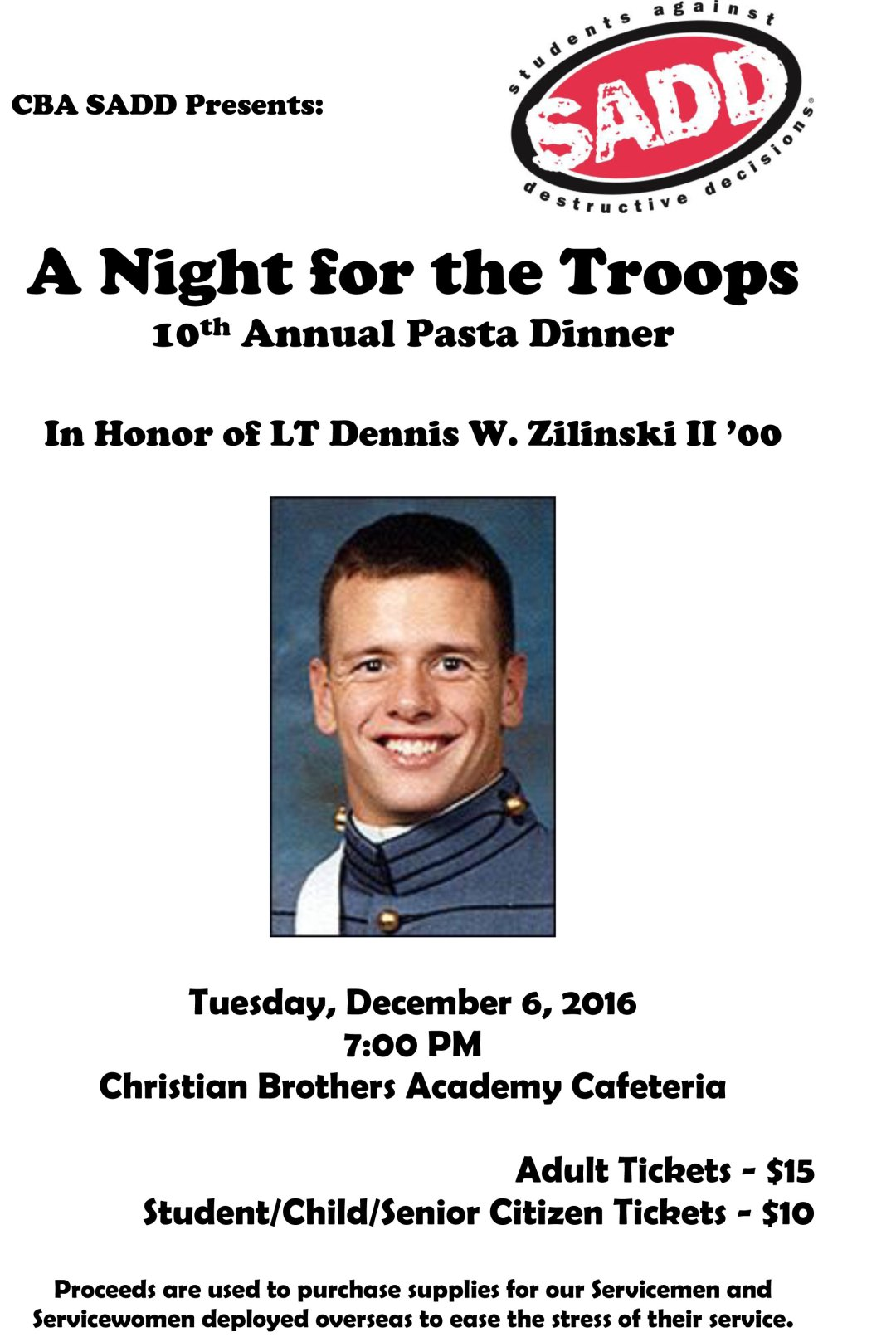 10th Annual Dinner – A Night for The Troops