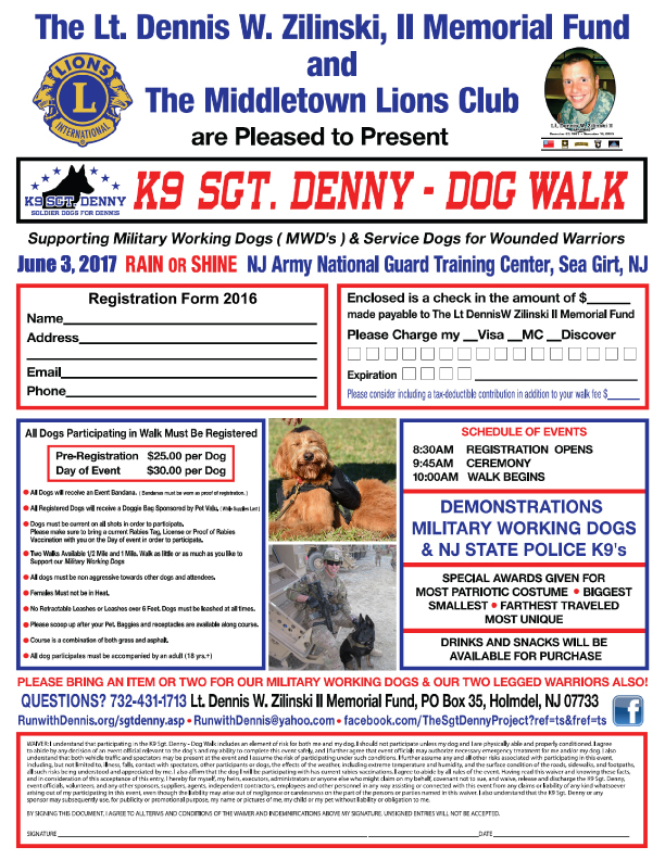 5th Annual K9 Sgt. Denny Dog Walk