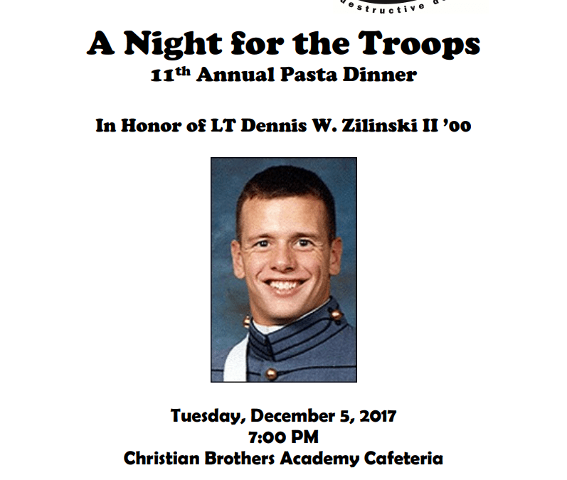 A Night for the Troops 11th Annual Pasta Dinner