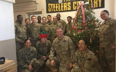 Christmas Tree and Holiday Spirit with our Troops