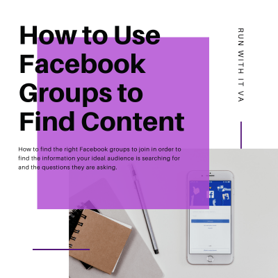 How to Use Facebook Groups to Find Content