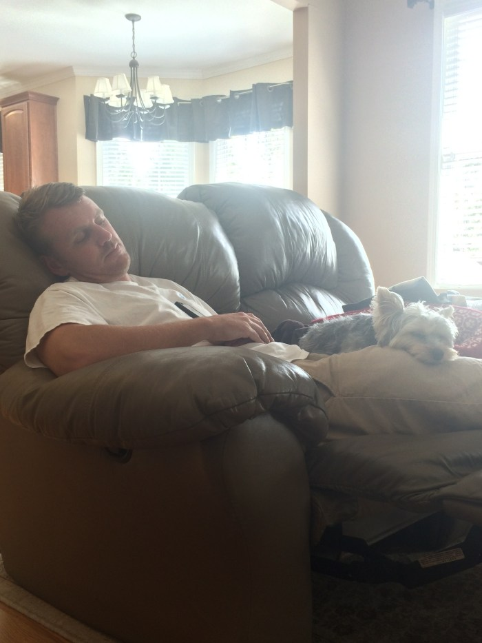 Justin and Milly sleeping
