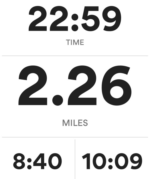 2.26 miles for run # 26