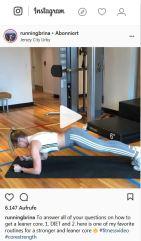 Auf runningbrina's Instagram Account gibt es immer effektive Workouts zum Nachmachen