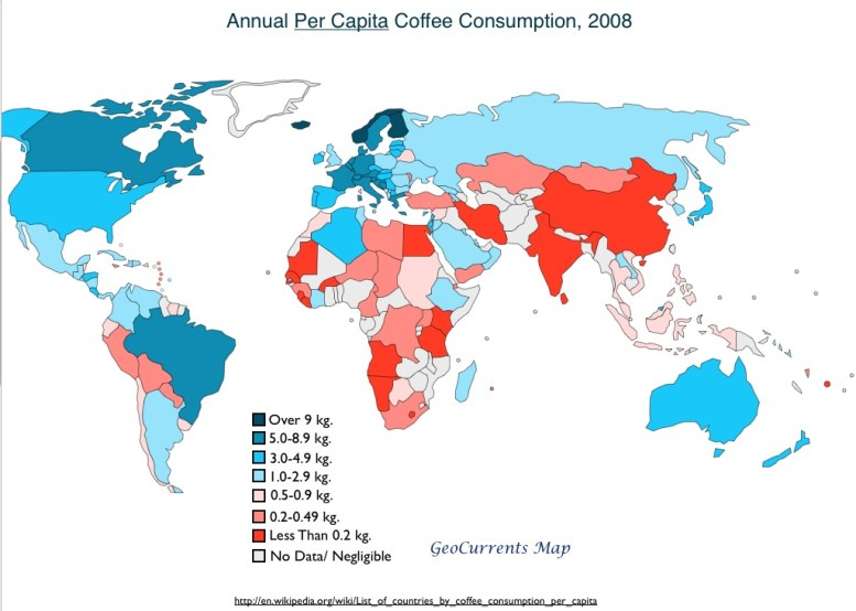 Global-Coffee-Consumption-Map