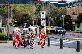 Girls wearing furisode for Coming of Age Day