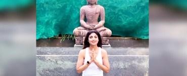 Shilpa Shetty celebrates Father's Day and International Yoga Day 8