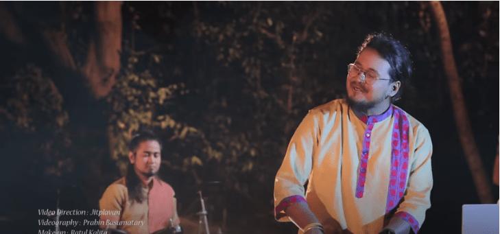 """""""Folk Fusion Bihu"""" লেজাইক লৈ নৱপ্ৰজন্মৰ নিহাৰ কাশ্যপ আৰু জেমি গগৈঃ 1"""