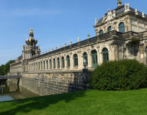 The Kronentor and Langgalerien from the south, The Zwinger, Dresden