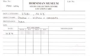 Horniman Museum location card