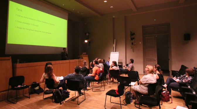 Listing museum standards at the CIDOC 2017 conference