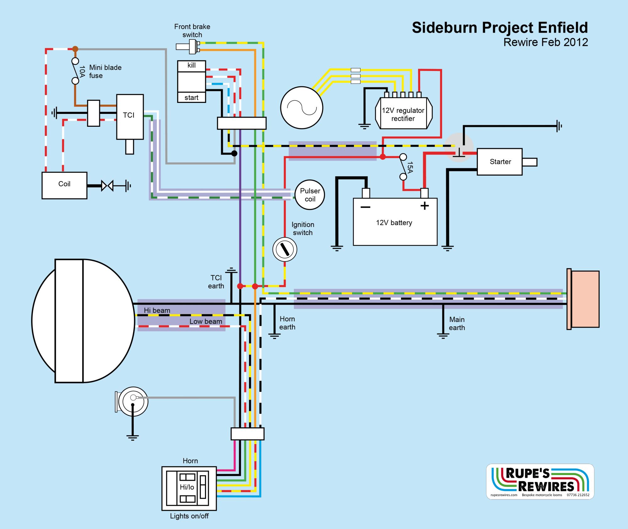 hight resolution of royal enfield regulator rectifier wiring diagram