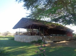 Beautiful luxury tented accomodation at Satao Camp