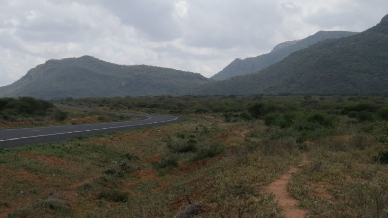 Road past Samburu to Moyale on the Kenya-Ethiopia border in northen Kenya