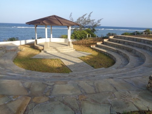 Amphitheatre for a nice big happy Kenyan wedding by the Ocean - picture copyright Rupi Mangat