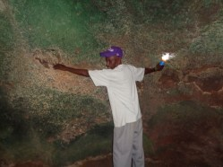 The shackles where slaves were bound in the slave cave at Shimoni - copyright Rupi Mangat
