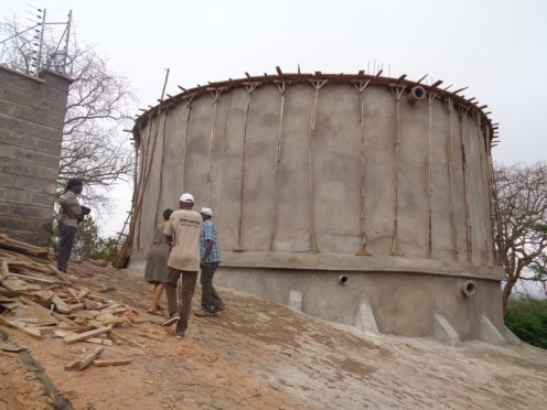 At Mutomo - the concrete-enforced water tank Copyright Rupi Mangat