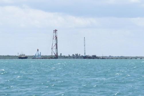 Lamu Port under construction on mainland opposite Manda copyright Rupi Mangat