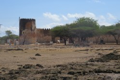Closer to 19th century Siyu Fort at low tide - the coral rage is sharp - Picture copyright: Maya Mangat.