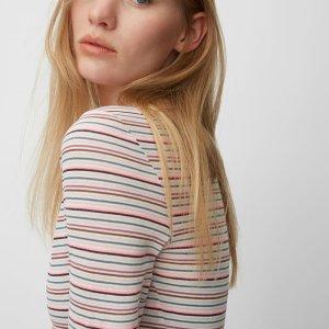 T-Shirt mit garngefärbtem Ringel-Dessin von Marc O'Polo bei RUPP Moden