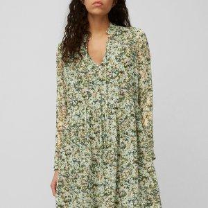 Kleid aus zartem Viskose-Crêpe