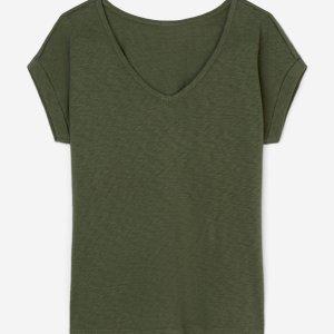 V-Neck Shirt aus Slub Jersey von Marc O'Polo bei RUPP Moden