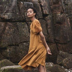 Valene Seersucker Dress von Beaumont Organic bei RUPP Moden