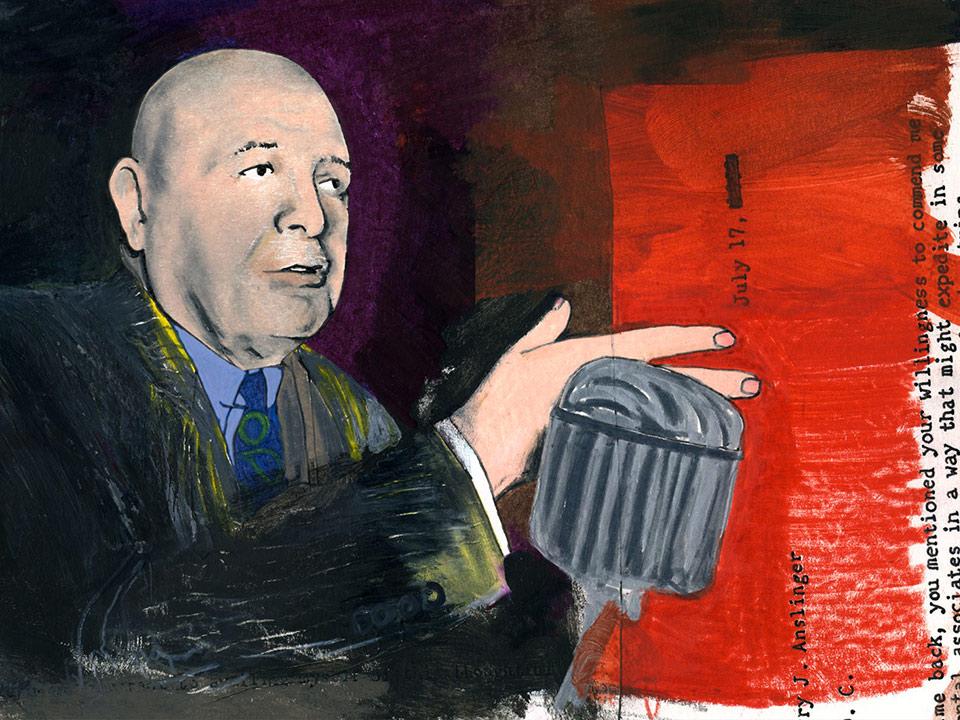 Ricardo Cortés illustration of Harry J Anslinger