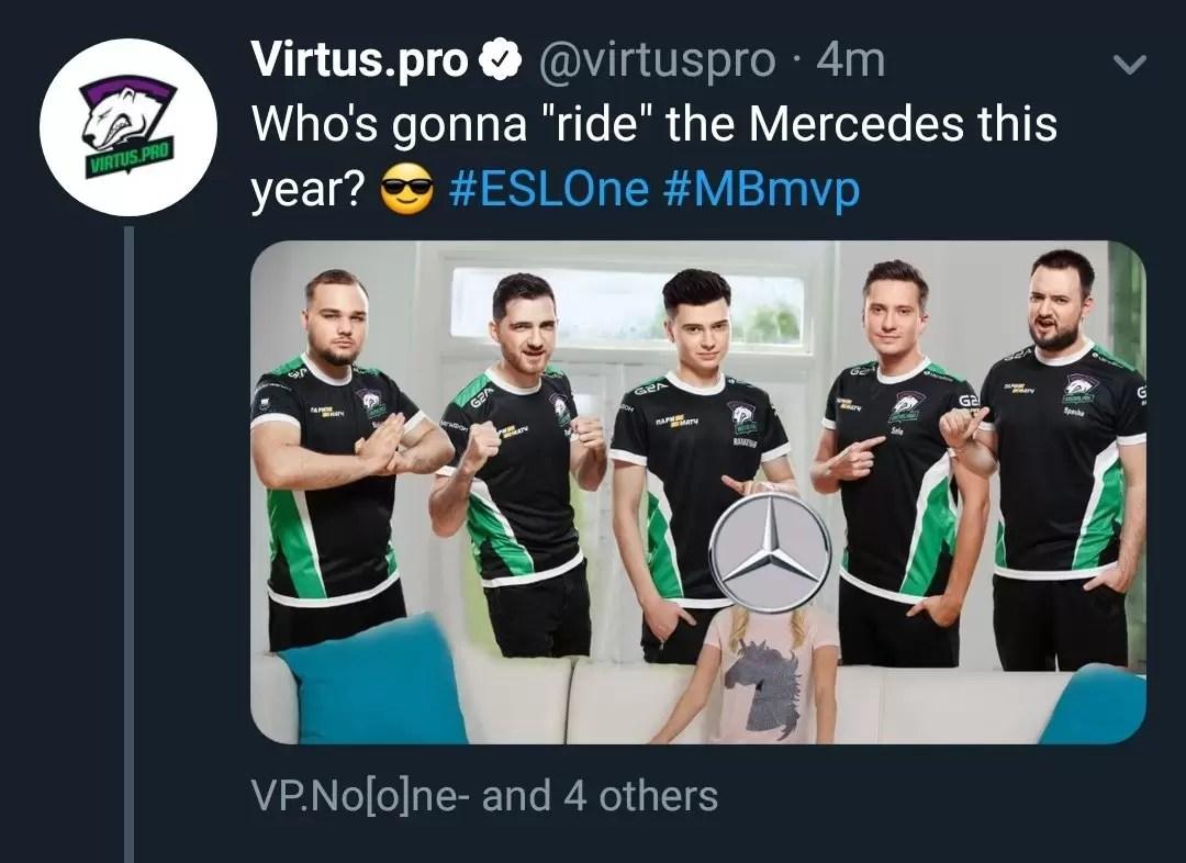Virtus Pro okačio neprikladan tweet, pa ga ubrzo obirsao