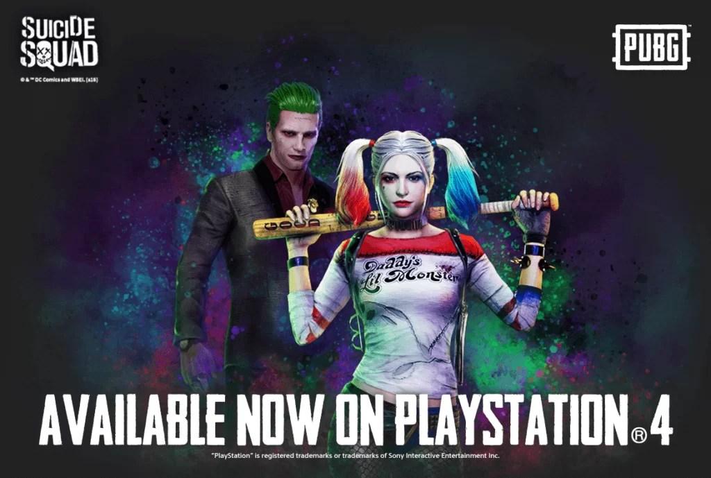 Suicide Squad skinovi stigli u PUBG za PS4