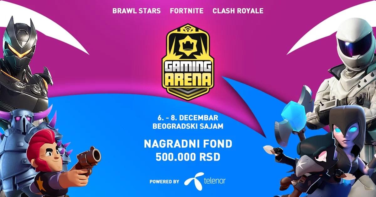 Clash Royale, Brawl Stars i Fortnite na Games.conu – Telenor Stage
