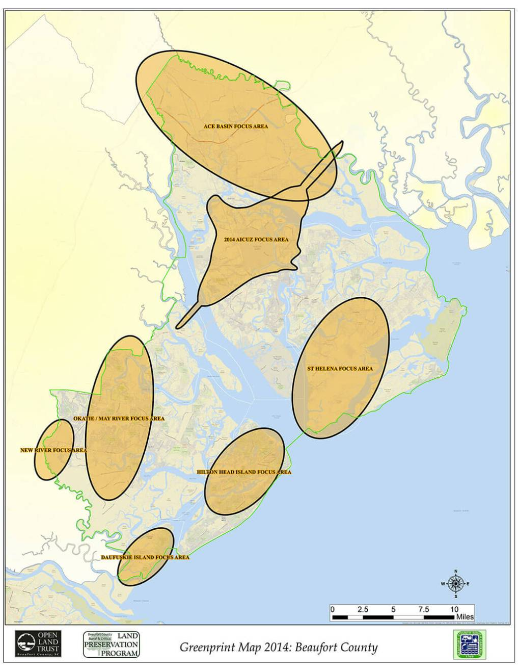 Beaufort County - Greenprint-Working-Areas-2014 Map