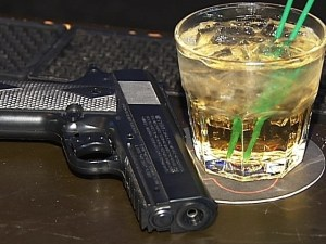 guns and alcohol