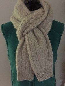 cabled cashmere scarf