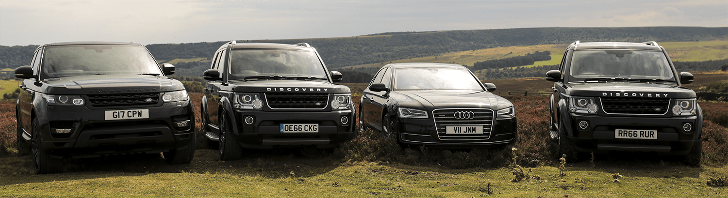 Rang Rover Sport, Landrover Discovery and Audi A* for shooting party on bransdale moor.