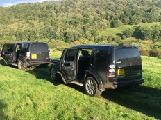 Landrover Discovery at Rievaulx Shoot in North Yorkshire