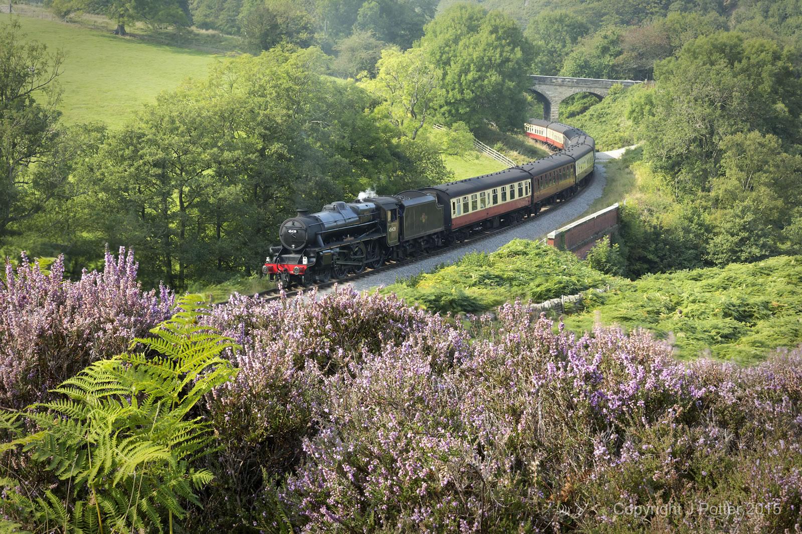 Steam Train in Goathland