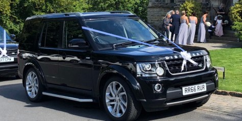 Landrover Discovery Wedding Car with Ribbons