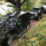Shooting Party Convoy at the Rievaulx Shoot near Helmsley