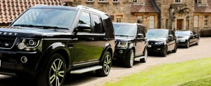 Fleet of vehicles at Stoneley Woods Manor, Bransdale Moor North Yorkshire