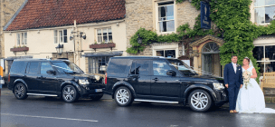 Wedding Cars outside the Feathers Hotel in Helmsley