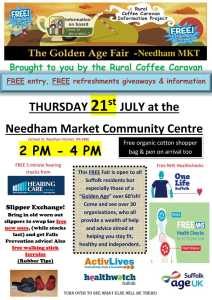 Golden Age Fair poster Needham Market side 1-1