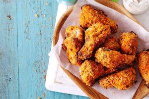 Asinhas de frango crocantes