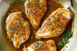 Bifes de frango com mostarda no forno