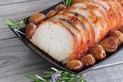 Lombinho de porco com castanhas à Transmontana