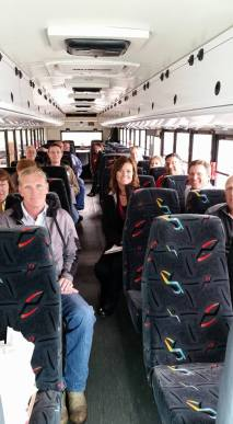 On the bus for the Community Tour with MEDA Resource Team and Community Leaders